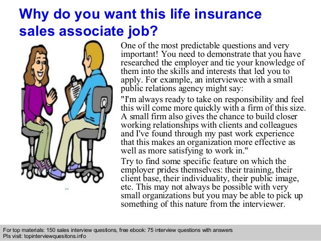 Life insurance sales associate interview questions and answers