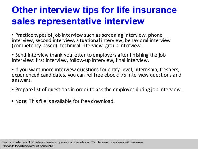 Life insurance sales representative interview questions and answers interview questions expocarfo