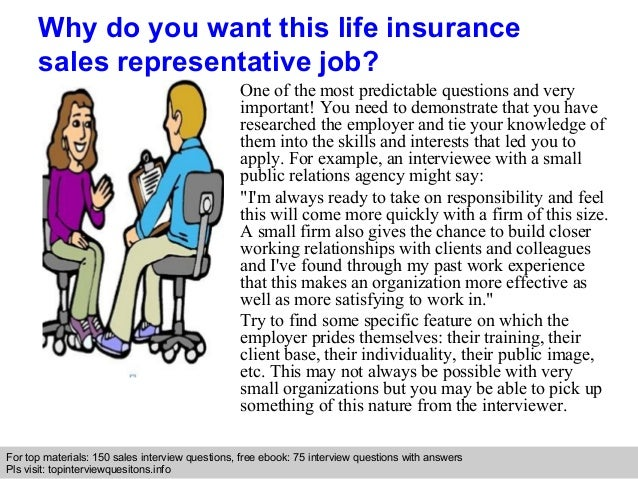 life insurance sales representative interview questions
