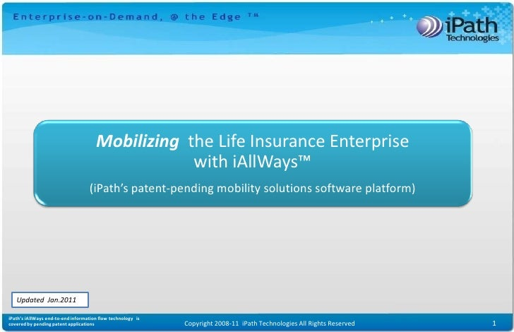 Mobilizing the Enterprise                                                                  with iAllWays™              (iP...