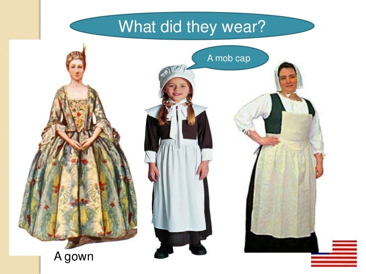What did the people of the New England colonies wear?