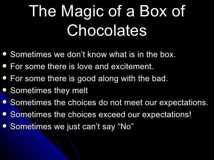 'Life is Like a Box of Chocolates...'
