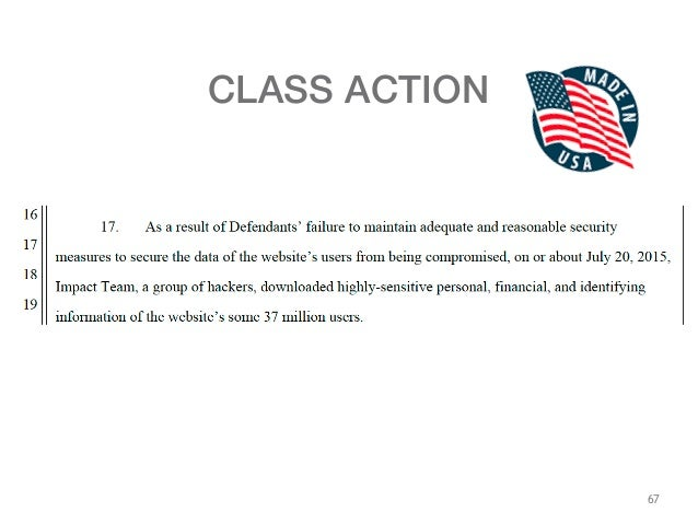 67 CLASS ACTION ...