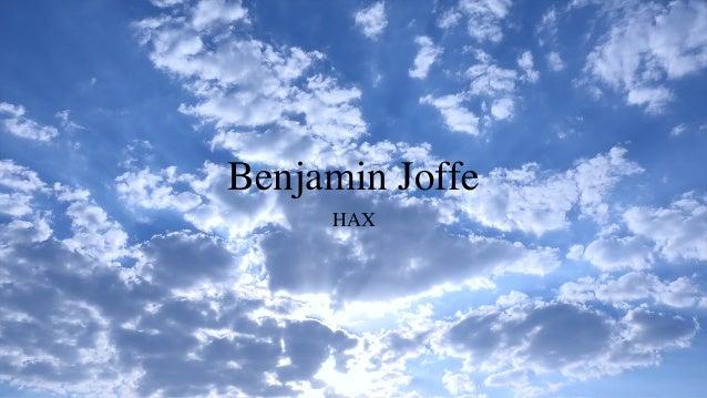 Benjamin Joffe HAX