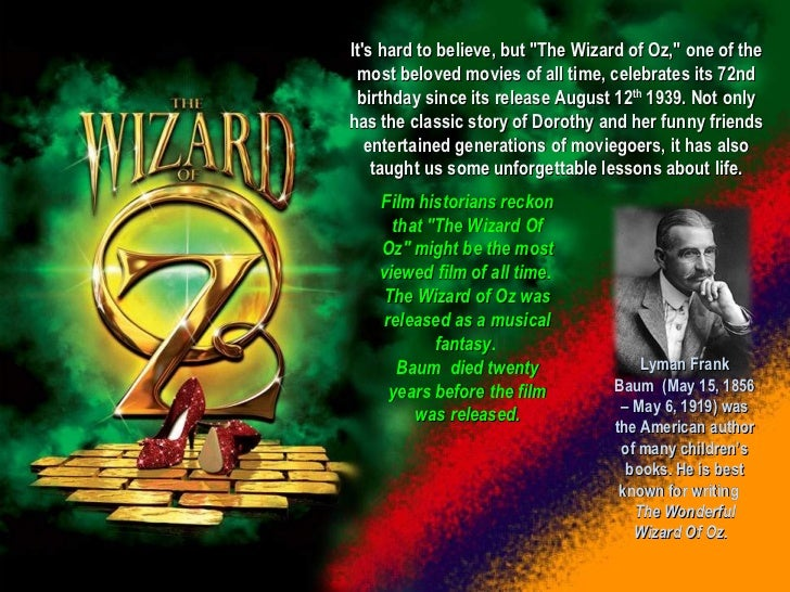 Life lessons from 'the wizard of oz' Slide 2