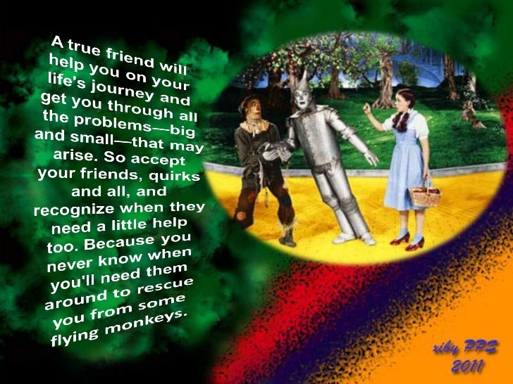 Life lessons from 'the wizard of oz' Slide 3