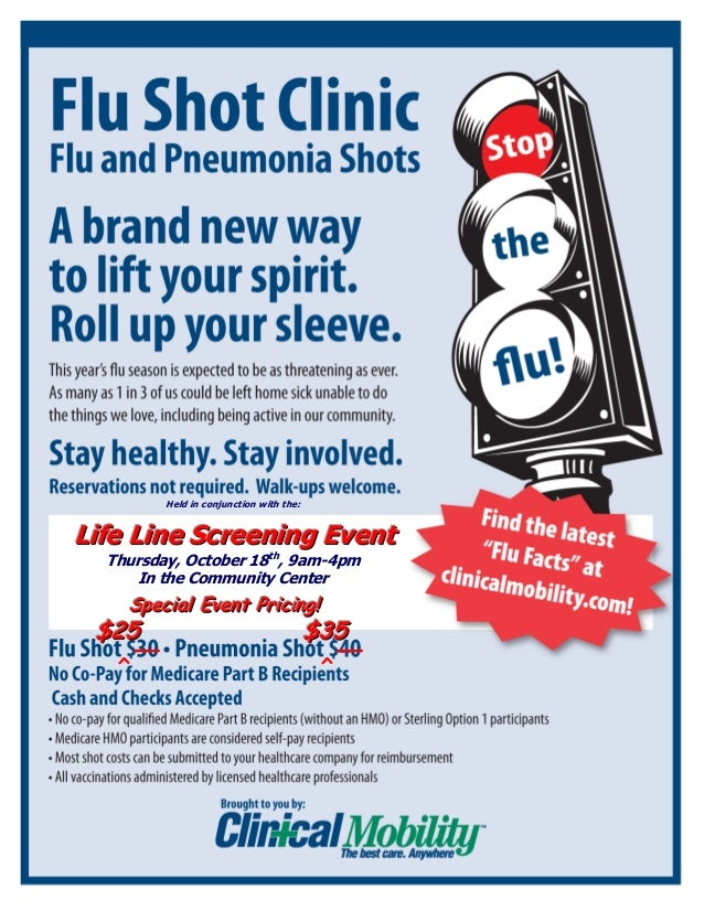 Clinical Mobility/Life Line Screening Flu Shot Clinic Program