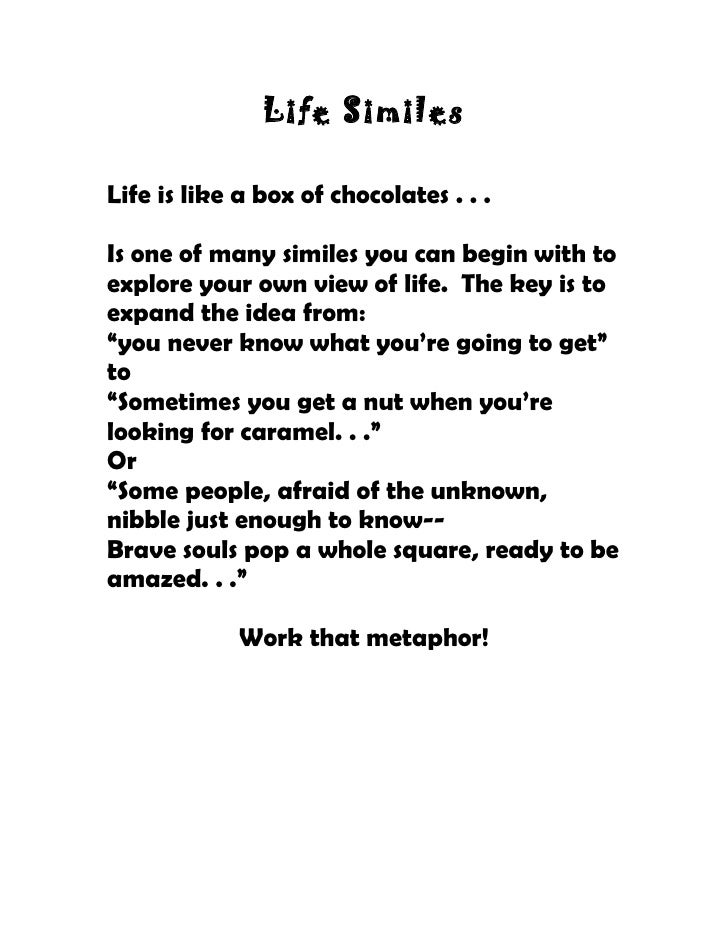 Life Metaphors