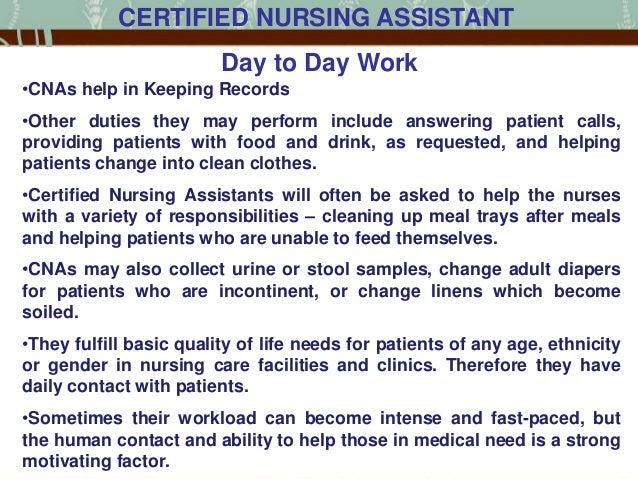 Memoir my nursing assistant clinical day