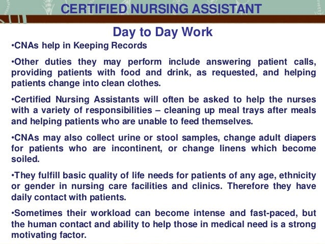 life of a certified nursing assistant in the us, Human Body