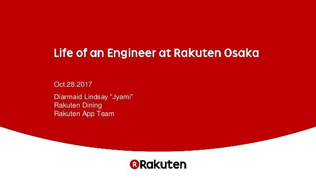 """Oct.28.2017 Diarmaid Lindsay """"Jyami"""" Rakuten Dining Rakuten App Team"""