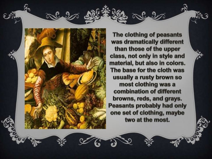 Life Of Elizabethan Peasants Food And Dress