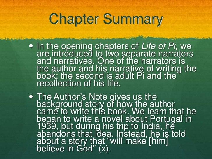 The life of pi short summary