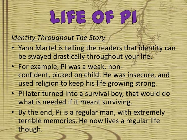 life of pi animal behaviour The characters in the life of pi – like in any dream,  of course the alternate story showed human behaviour to be very similar to brutal self interested animal behaviour under extreme.