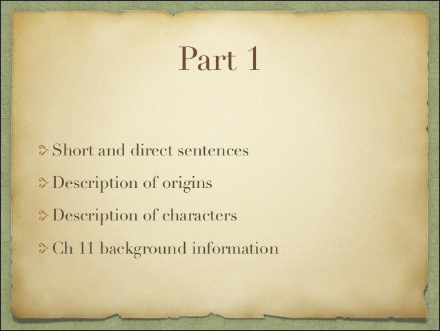 Life of pi part 1 ch analysis for Life of pi analysis