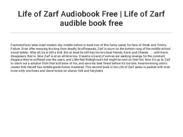 Life Of Zarf Audiobook Free Life Of Zarf Audible Book Free