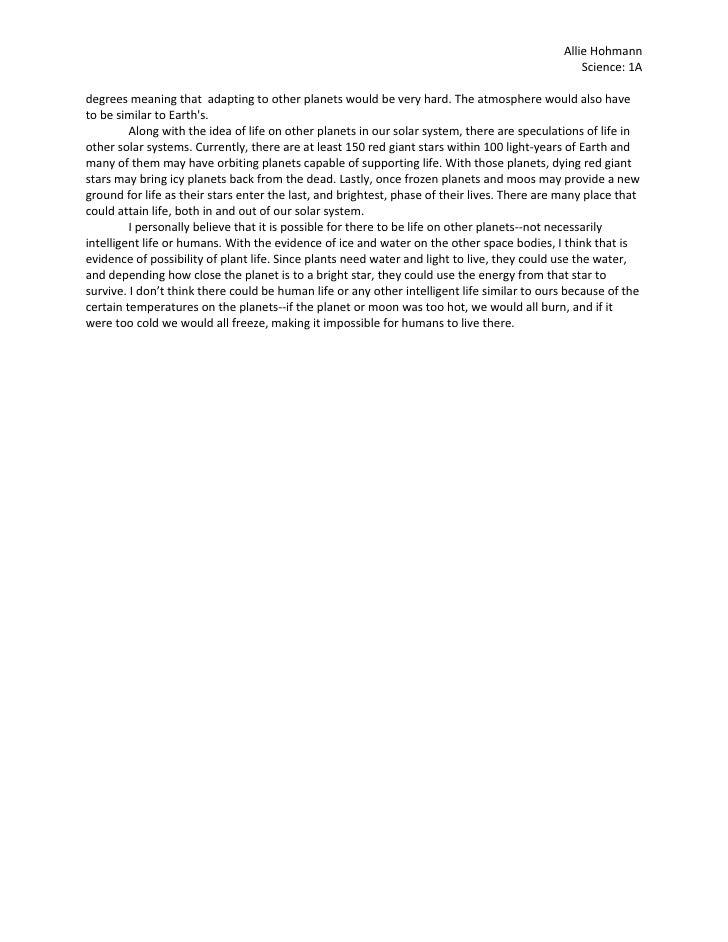 essay on planet