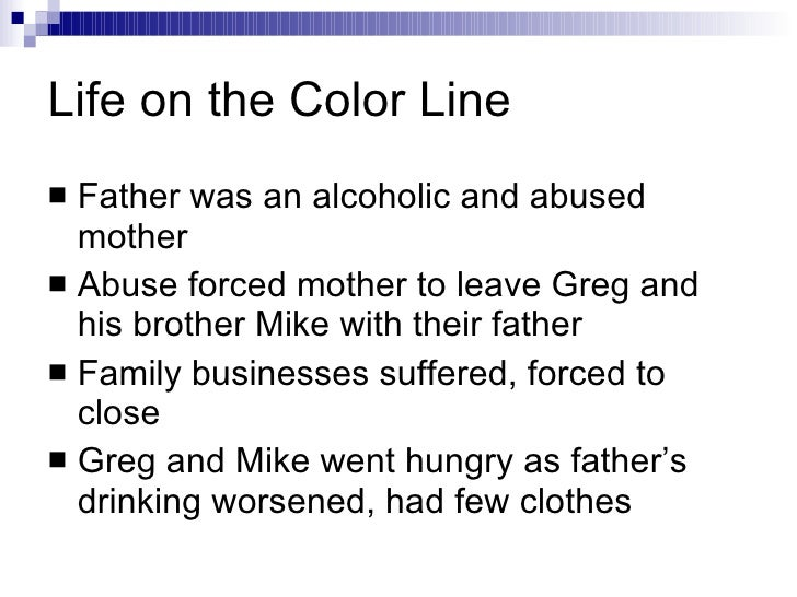 an analysis of life on the color line a story by gregory howard williams Williams, gh (1995) life on the color line new york city, ny: gregory howard williams and his younger brother the only place in gregory's school life where he and other black students were respected was in the world of sports.