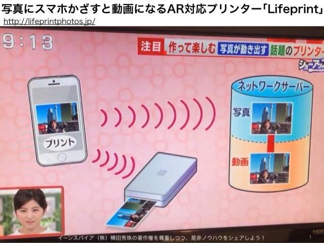 写真にスマホかざすと動画になるAR対応プリンター「Lifeprint」 イーンスパイア(株)横田秀珠の著作権を尊重しつつ、是非ノウハウをシェアしよう! 1 http://lifeprintphotos.jp/