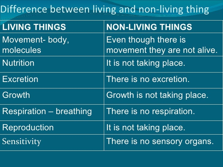 Difference Between Living Things and Non-living Things
