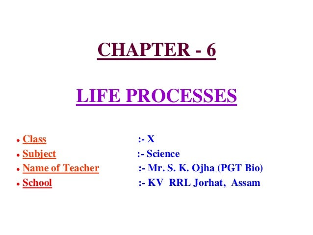 Life processes ppt