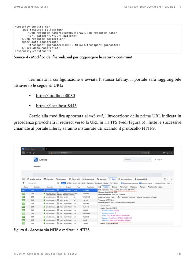 W W W . D O N T E S T A . I T L I F E R AY D E P L OY M E N T G U I D E - I Source 4 - Modifica del file web.xml per aggiung...