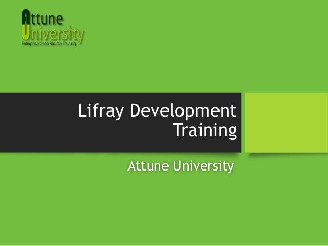 Lifray Development Training Attune University