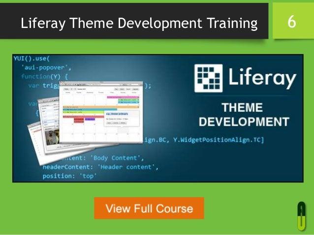 Liferay Theme Development Training 6