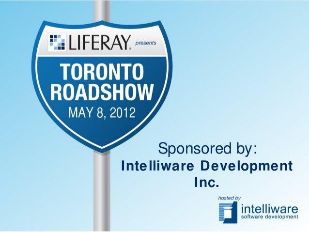 Sponsored by: Intelliware Development Inc.
