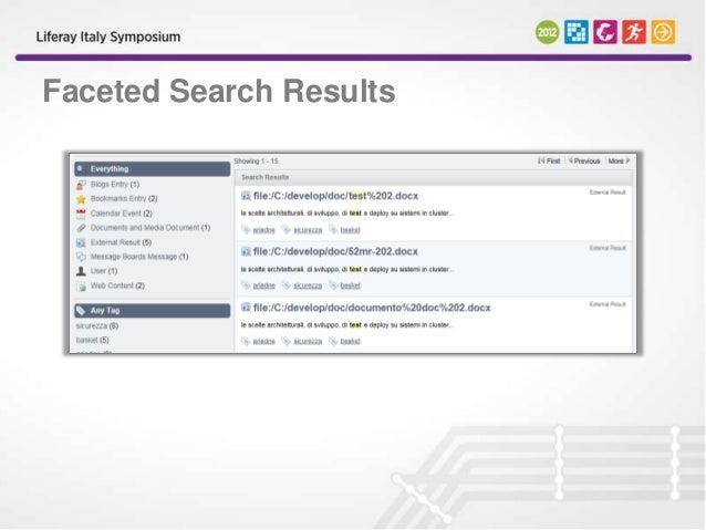 Faceted Search and Customized Search Filtering - Liferay 6 ...