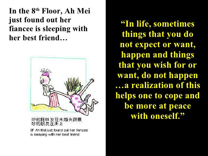 """In the 8 th  Floor, Ah Mei just found out her fiancee is sleeping with her best friend… """" In life, sometimes things that y..."""