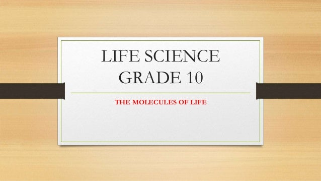LIFE SCIENCE GRADE 10 THE MOLECULES OF LIFE