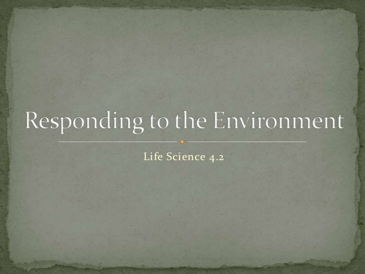 Life Science 4.2<br />Responding to the Environment<br />