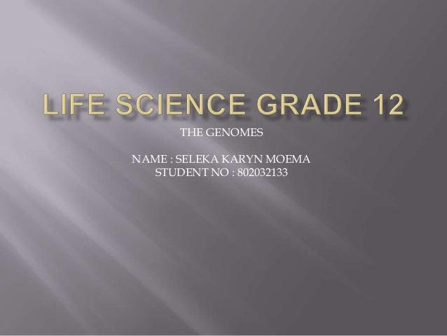 THE GENOMESNAME : SELEKA KARYN MOEMASTUDENT NO : 802032133