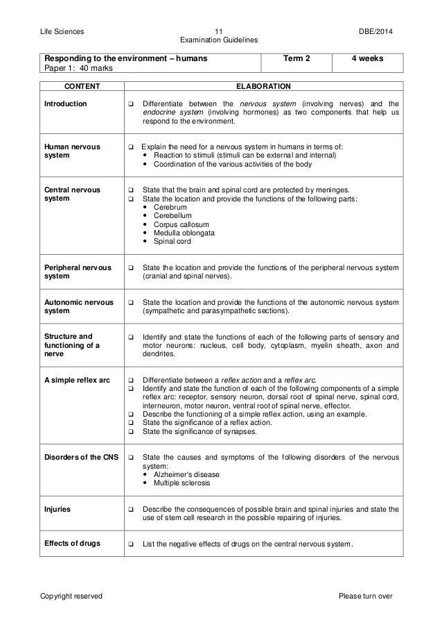 life sciences gr 12 exam guide 2014 eng rh slideshare net Exam Grade Chart Grade 5 Exam Result