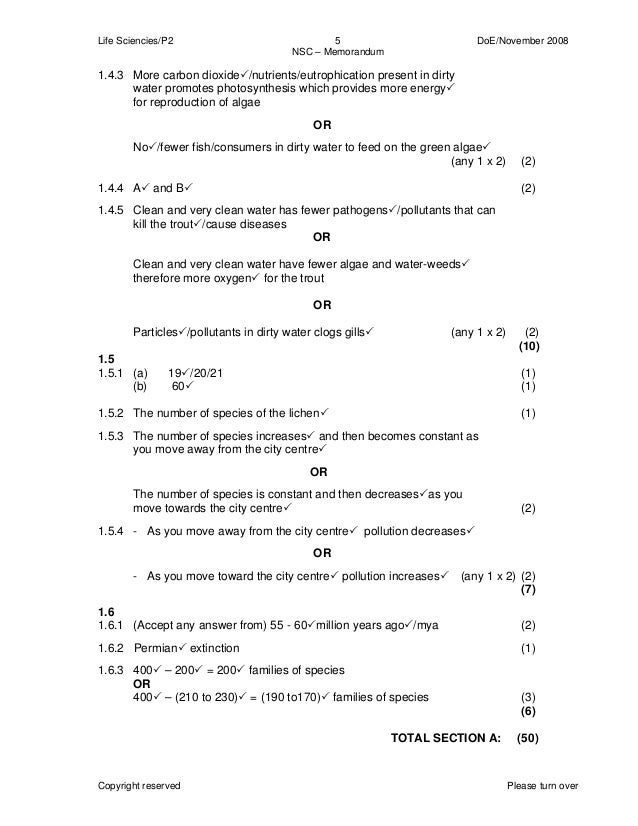 memorandum for the life sciences supplementary paper1 for 2014
