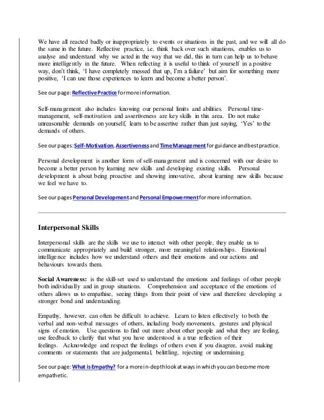 life skills training module