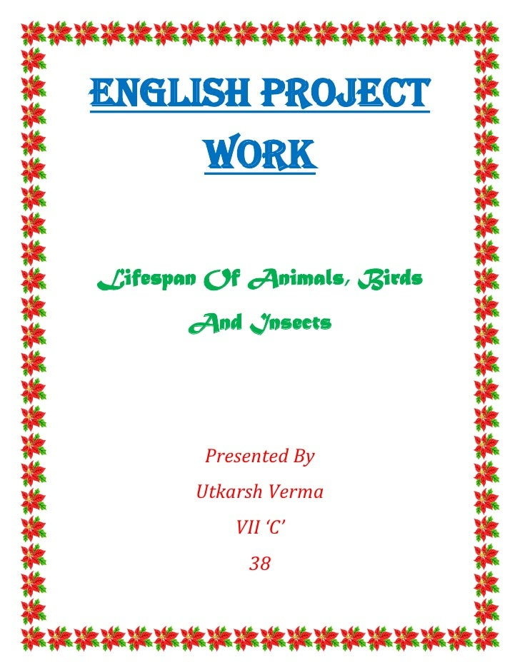English Project        WorkLifespan Of Animals, Birds       And Insects        Presented By       Utkarsh Verma           ...
