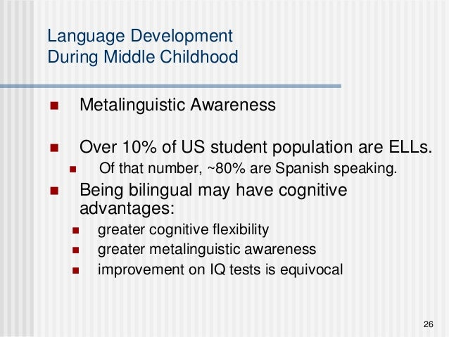 do bilingual students have greater metalinguistic awareness The cognitive benefits of being bilingual by:  activity) is greater in the brain stem in  associated with improved metalinguistic awareness.