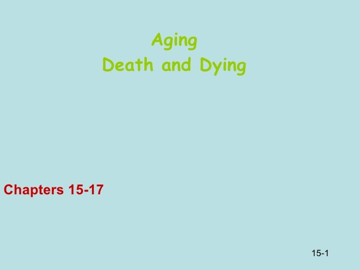 Aging Death and Dying Chapters 15-17