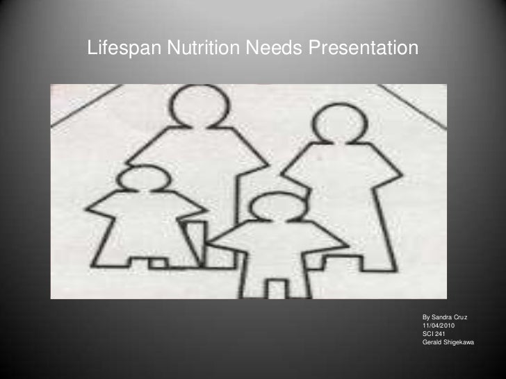Lifespan Nutrition Needs Presentation                                        By Sandra Cruz                               ...