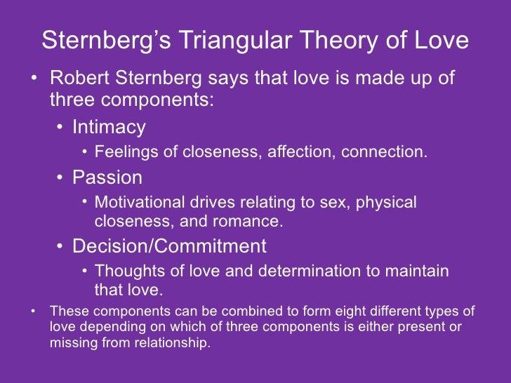 checkpoint sternbergs theory of love Robert j sternberg is professor of human development at cornell university   duplex theory of love: triangular theory of love and theory of love as a story.