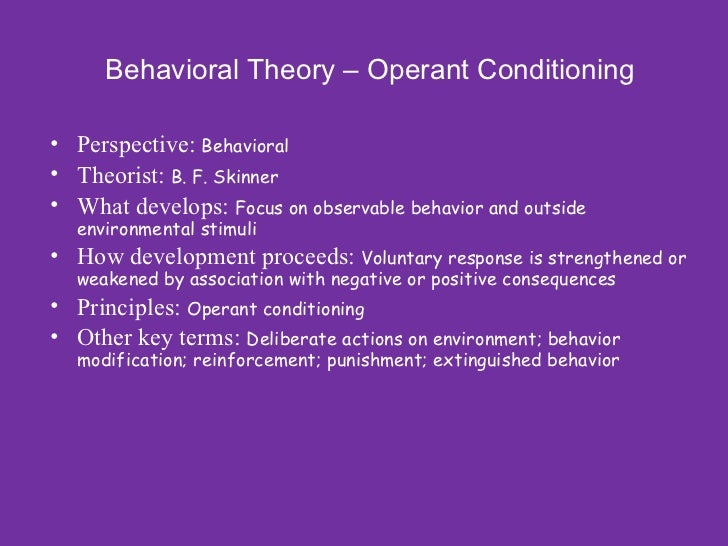 operant conditioning a behaviour modification program essay Free and custom essays at essaypediacom take a look at written paper - operant conditioning principles used to reduce oversleeping.