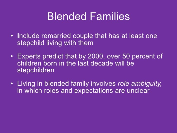 Why blended families don t work