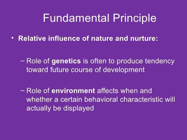 Role Of Nature And Nurture In Human Development