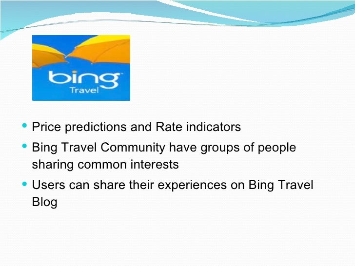 Bing Travel Indicator : Life style group