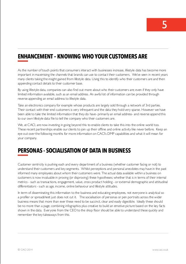 5  Enhancement – Knowing who your customers are  As the number of touch points that consumers interact with businesses inc...