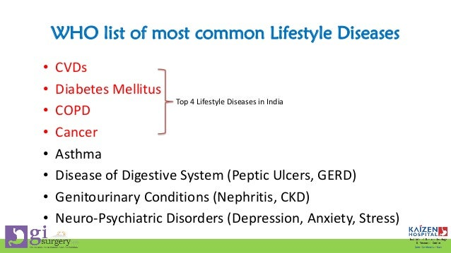 life style diseases Lifestyle diseases characterize those diseases whose occurrence is primarily  based on the daily habits of people and are a result of an inappropriate.