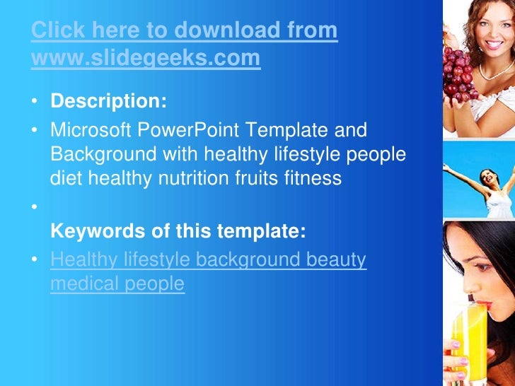 Lifestyle medical power point templates lifestyle medical powerpoint templatesbr slidegeeksbr 2 click here to download toneelgroepblik Image collections