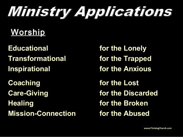 Worship Educational for the Lonely Transformational for the Trapped Inspirational for the Anxious Coaching for the Lost Ca...